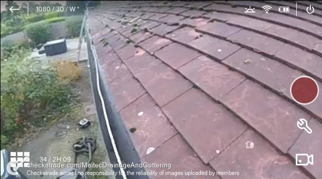 Gutter cleaning camera eastbourne